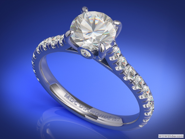 ES655WG Cathedral Surprise Diamond Engagement Ring