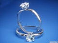 ES783 Round Diamond Solitaire Tulip Engagement Ring