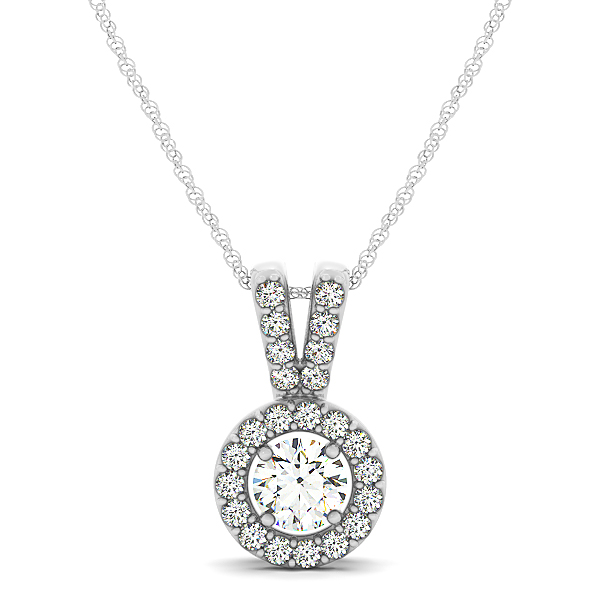 Halo Diamond Pendant 0.73ct