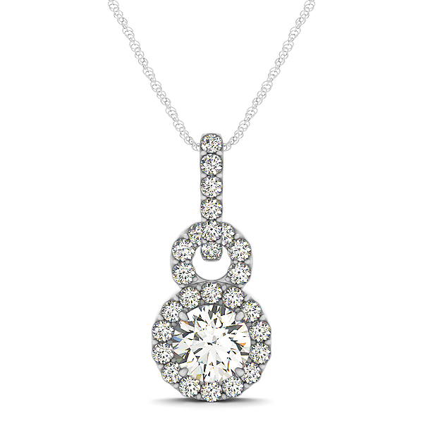 Infinity Halo Diamond Pendant 1.26ct