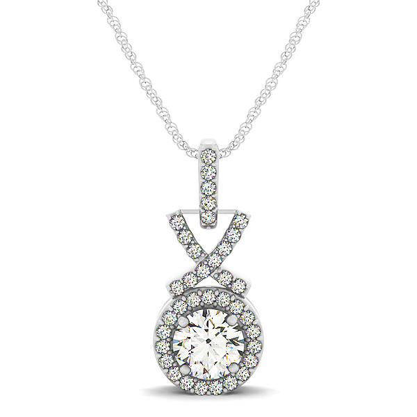 XO Halo Diamond Pendant 0.41ct