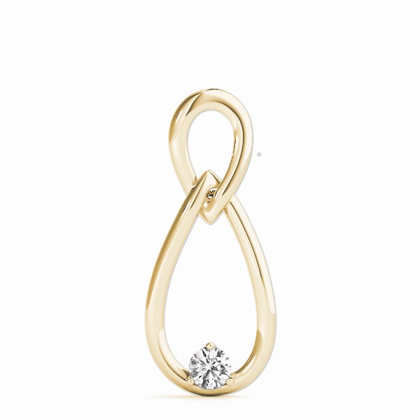 Infinity Solitaire Pendant Yellow Gold