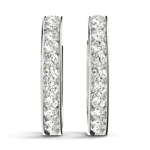 Open Hoop Diamond Earrings 0.96