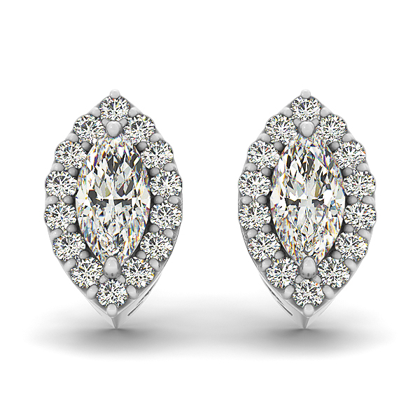 Filigree Marquise Halo Earring 0.51 ct.
