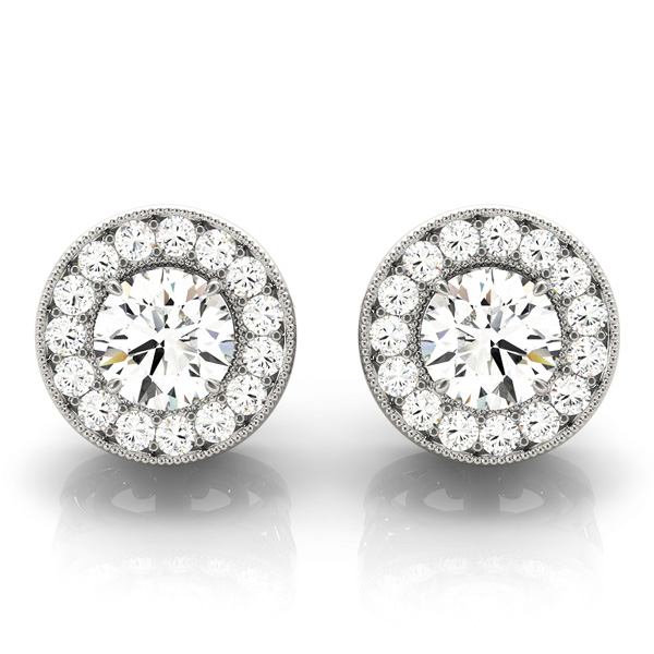 Halo Filigree Earring 0.76 ct.