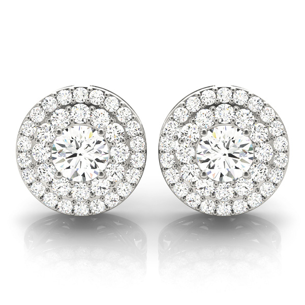 Double Halo Diamond Earring 1.3 ct.