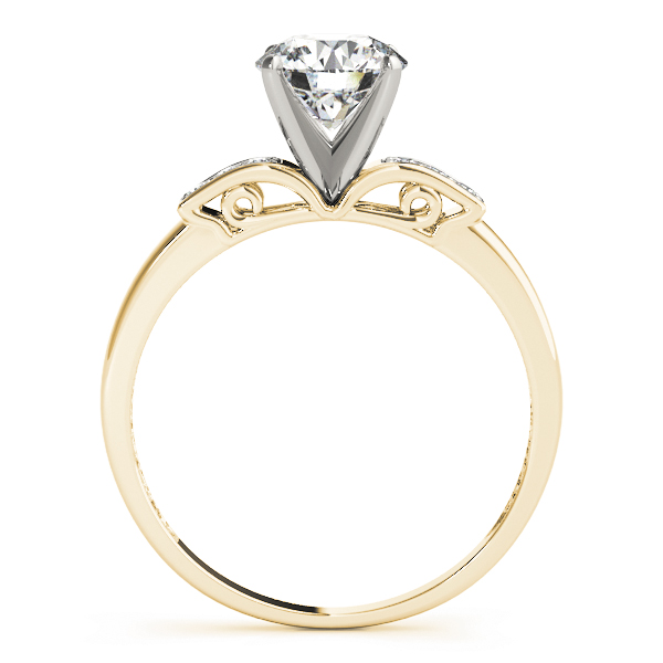 Petite Diamond Engagement Ring in Yellow Gold