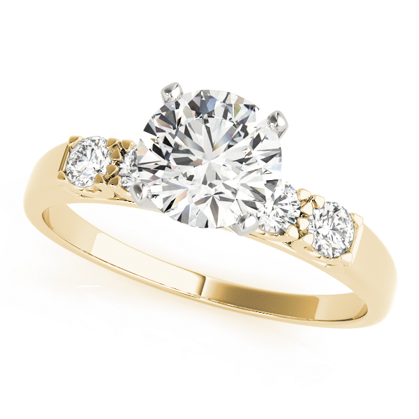 Petite U Prong Diamond Engagement Ring in Yellow Gold