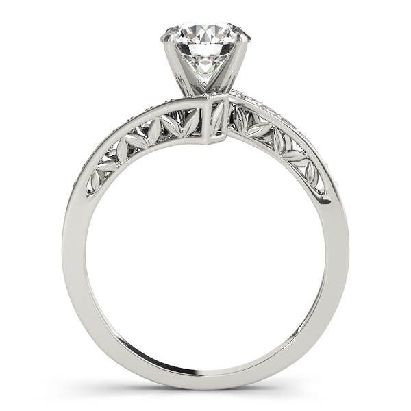 Swirl Diamond Pave Engagement Ring with Filigree