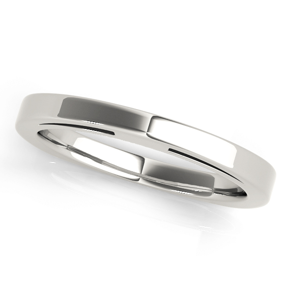 Comfort Fit Matching Wedding Band,  Square Band