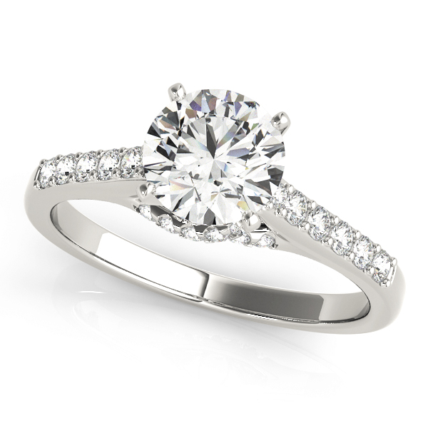 Cathedral Trellis Diamond Engagement Ring