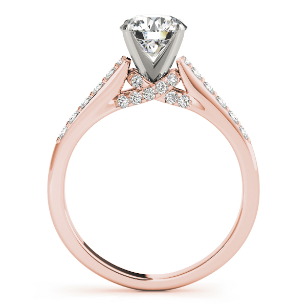 Cathedral Trellis Diamond Bridal Set in Rose Gold