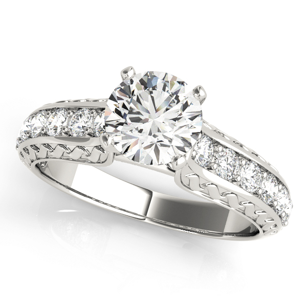 Classic Diamond Engagement Ring with Engraving
