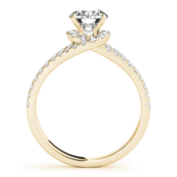 Swirl Petite Split to Double Band Engagement Ring in Yellow Gold