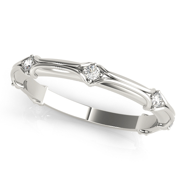 Round Diamond Stackable Ring