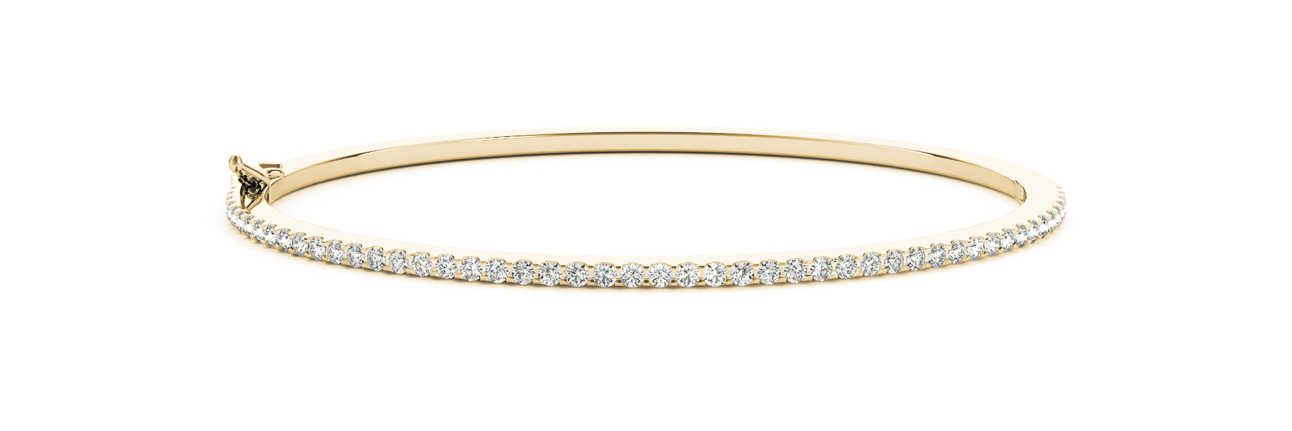Diamond Bangle in Yellow Gold 0.82 Carat