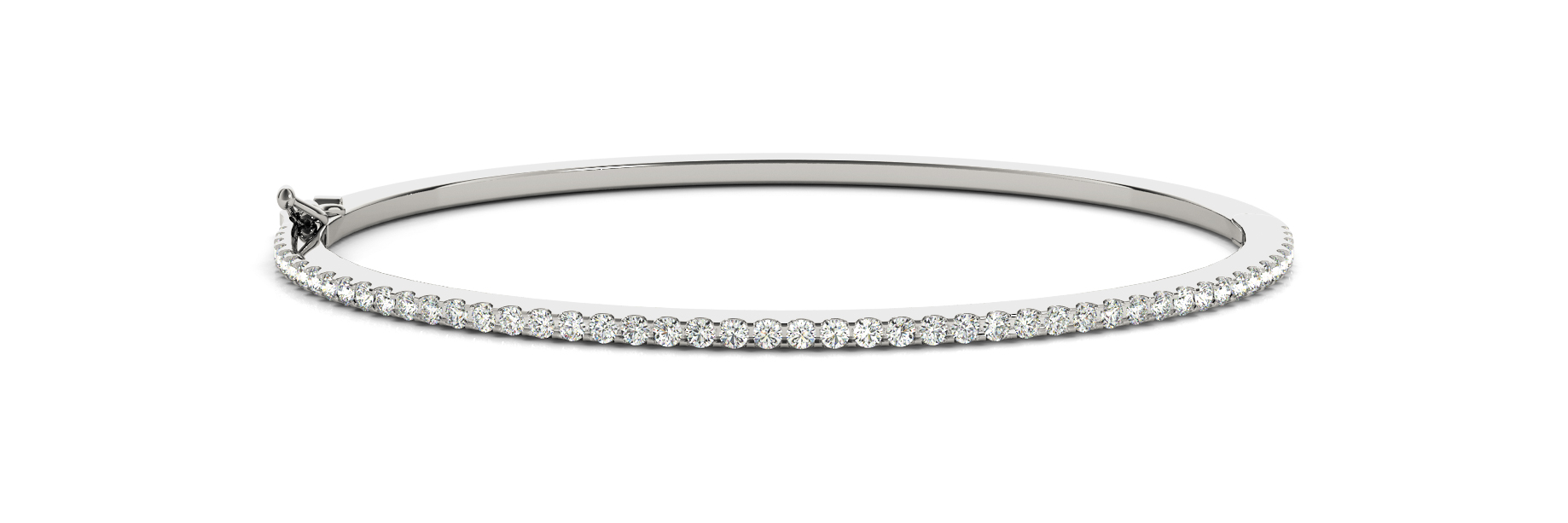 0.43 Carat Round Diamond Bangle in White Gold
