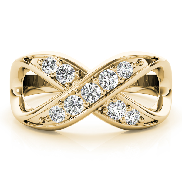 XO Infinity Diamond Ring Yellow Gold