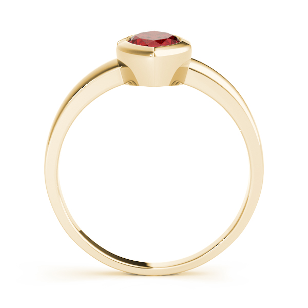 Bezel Marquise Red Garnet Yellow Gold