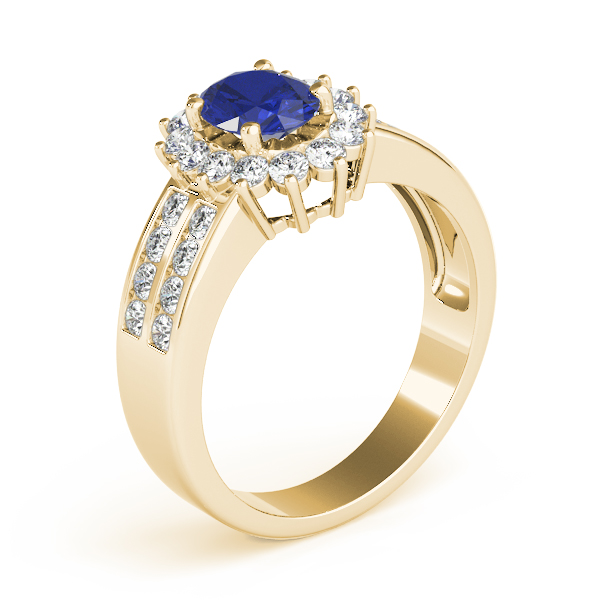Oval Sapphire Diamond Ring Yellow Gold