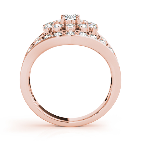 Compass Diamond Fashion Ring Rose Gold