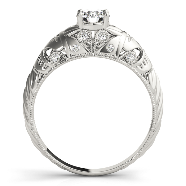 Vintage Diamond Engagement Ring with Filigree