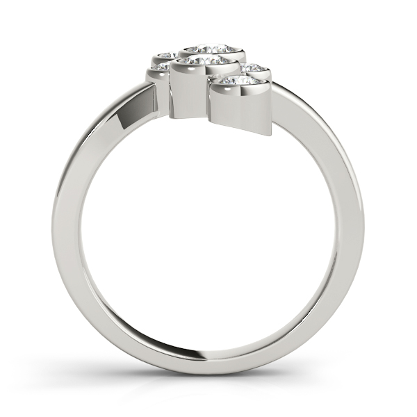 Swirl Bezel Diamond Right Hand Ring