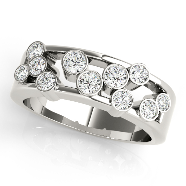 Bezel Diamond Right Hand Ring