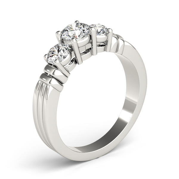 Three Stone Diamond Engagement Ring