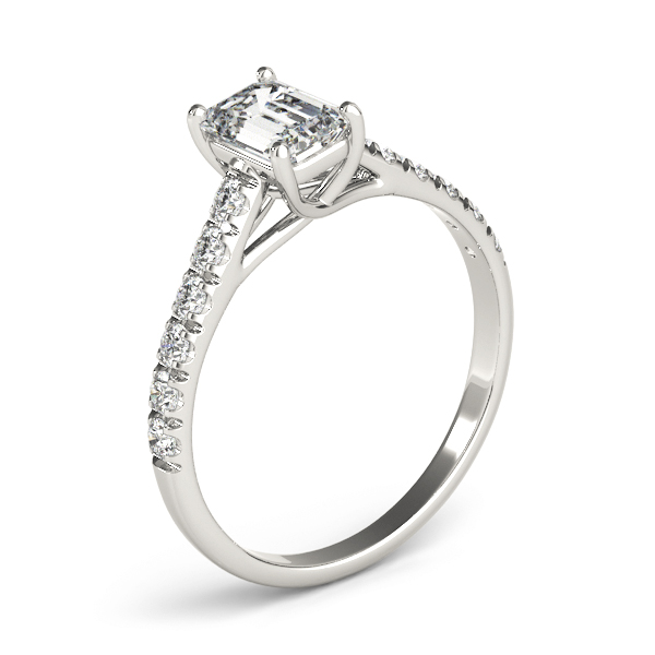 Classic Emerald Cut Diamond Trellis Engagement Ring