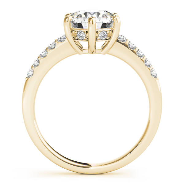Classic Six Prong Diamond Engagement Ring in Yellow Gold