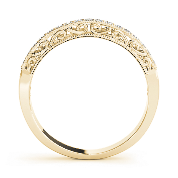 Vintage Filigree Wedding Band Yellow Gold