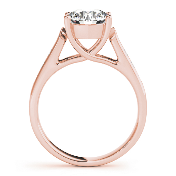 Trellis Cathedrald Diamond Engagement Ring in Rose Gold