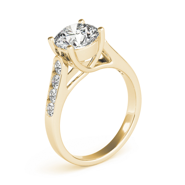 Trellis Cathedrald Diamond Engagement Ring in Yellow Gold