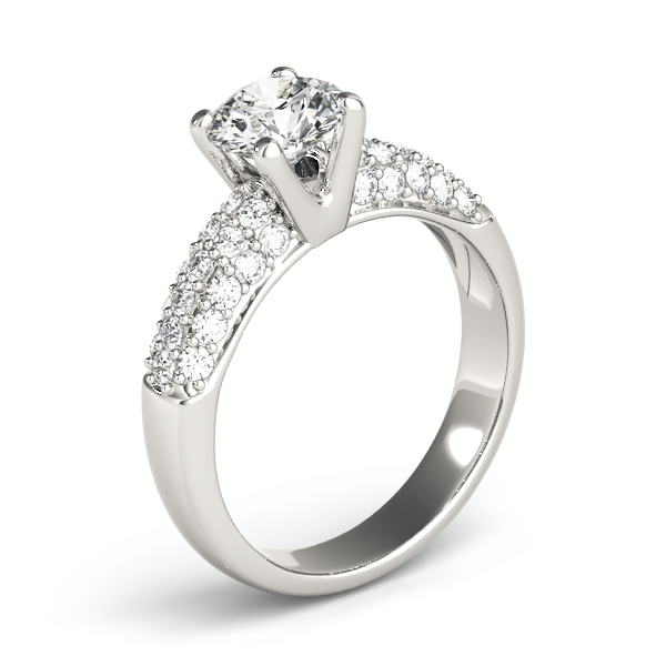 Etoil Pave Diamond Engagement Ring