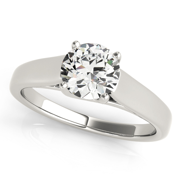 Diamond Trellis Solitaire Engagement Ring
