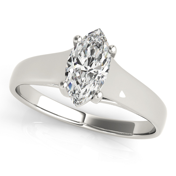 Classic Trellis Marquise Solitaire Engagement Ring