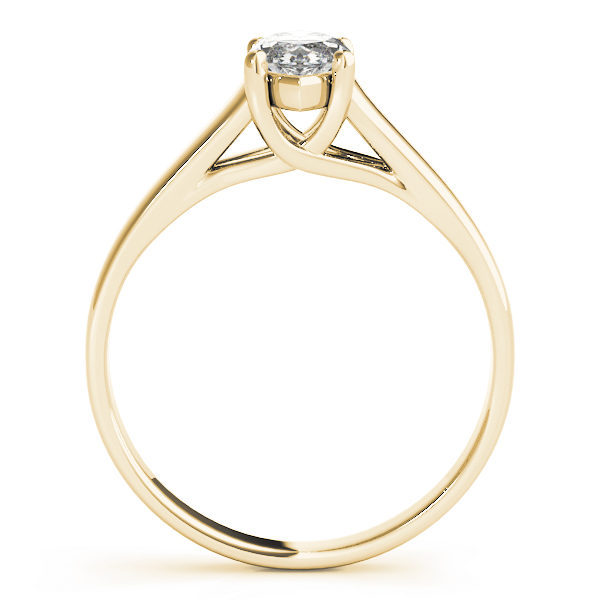 Classic Trellis Marquise Solitaire Engagement Ring in Yellow Gold