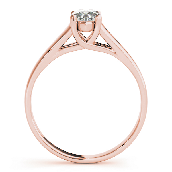 Classic Trellis Marquise Solitaire Engagement Ring in Rose Gold