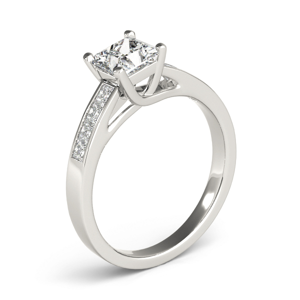 Classic Trellis Princess Diamond Engagement Ring