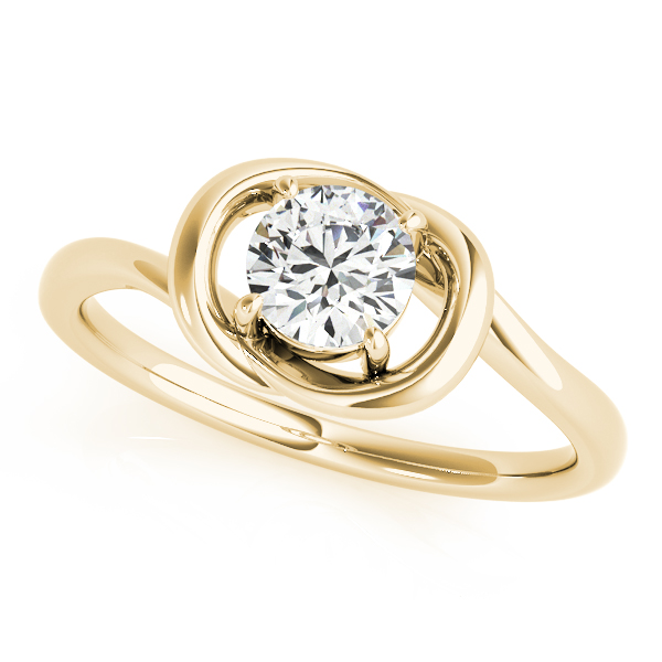Solitaire Love Knot Engagement Ring Yellow Gold