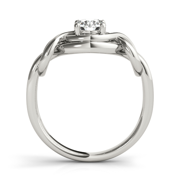 Solitaire Love Knot Intertwined Engagement Ring
