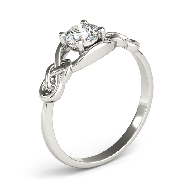 Solitaire Double Love Knot Engagement Ring