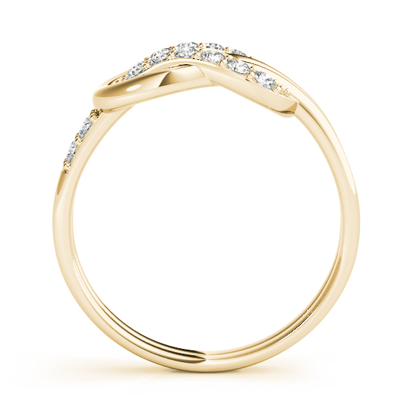 Love Knot Diamond Ring Yellow Gold