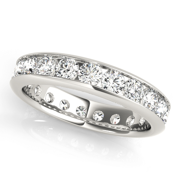 Channel Round Diamond Eternity Band 0.93 Ct