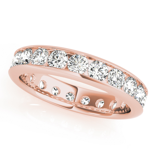 Channel Diamond Eternity Band 1.44 Ct Rose Gold