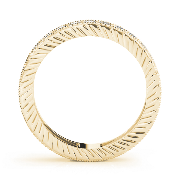 Engraved Eternity Band 0.39 Ct Yellow Gold