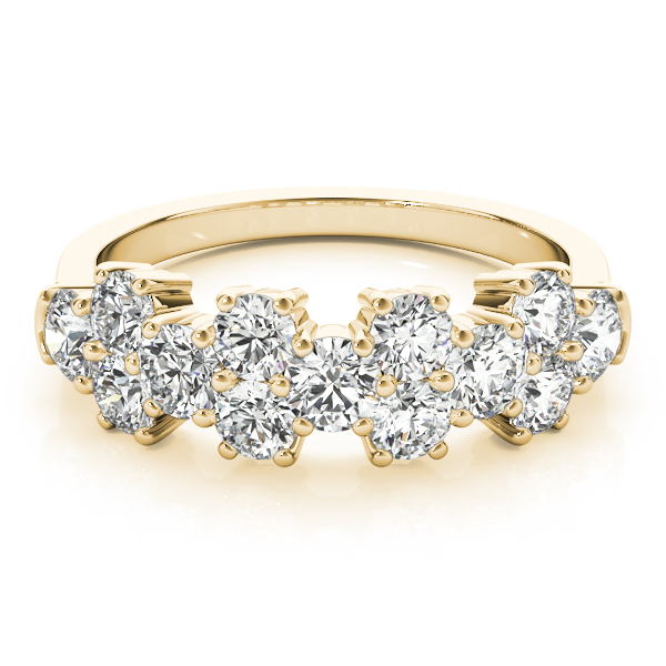 Round Diamond Garland Ring Yellow Gold