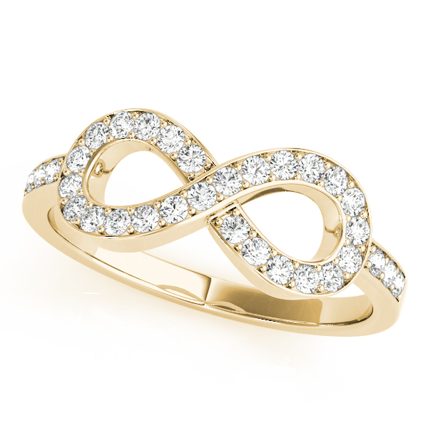 Infinity Diamond Ring Yellow Gold