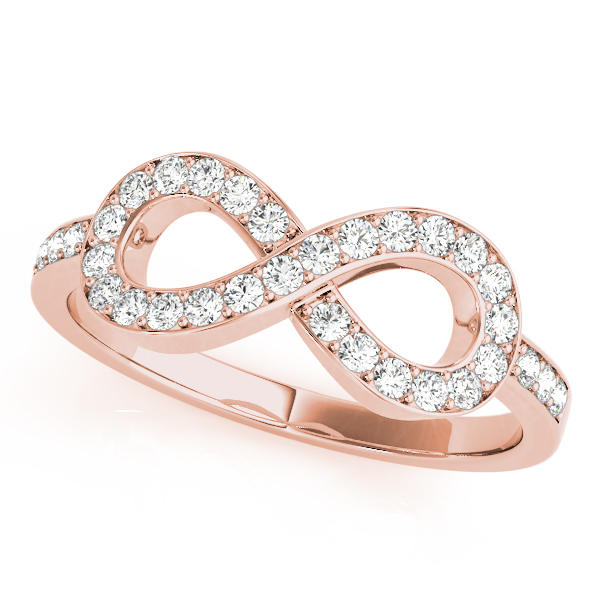 Infinity Diamond Ring Rose Gold